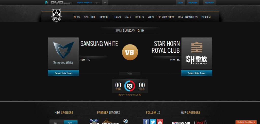 Samsung White vs Star Horn Royal Club  LoL Esports