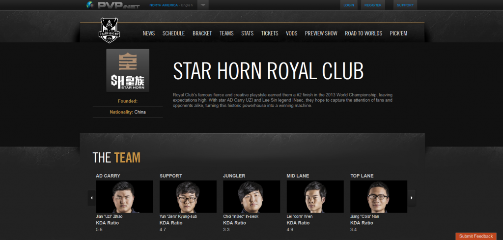 Star Horn Royal Club  LoL Esports