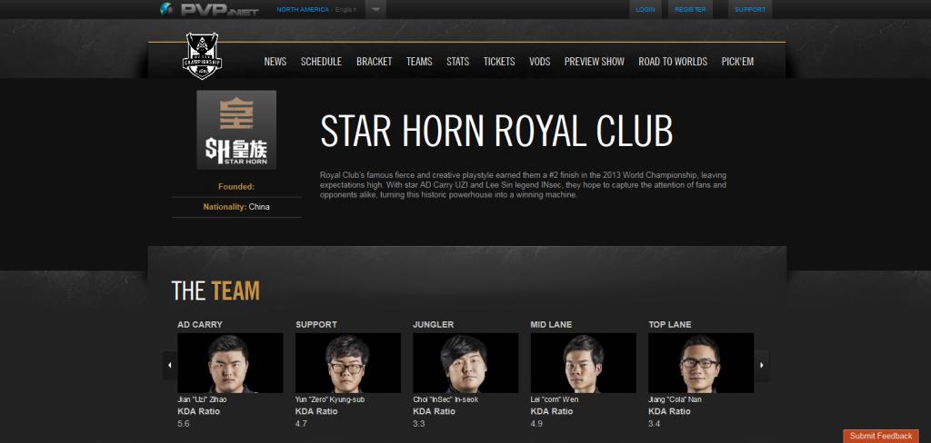 Star Horn Royal Club  LoL Esports